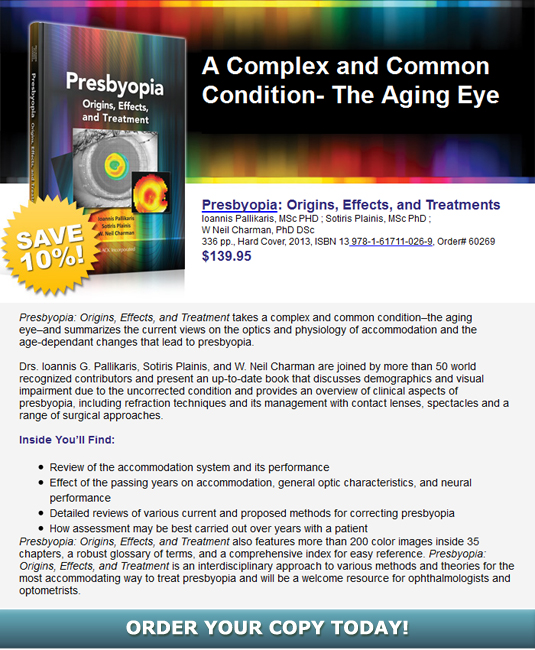 Presbyopia: Origins, Effects, and Treamtments